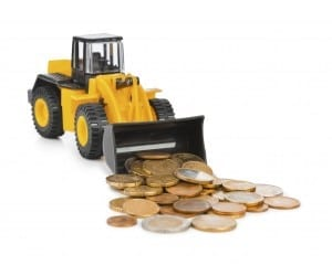 Toy loader and money coins